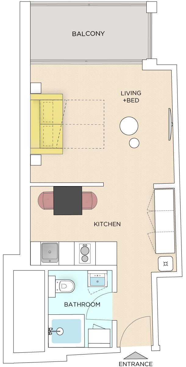 Studio - Medium apartment to rent in Warsaw UPR-A-089-1